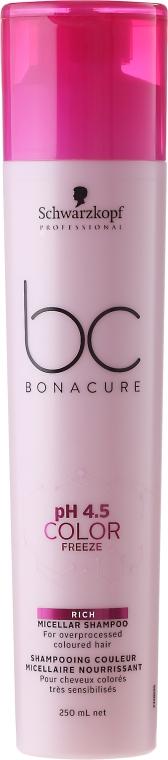 Șampon micelar pentru păr vopsit - Schwarzkopf Professional Bonacure Color Freeze Rich Micellar Shampoo