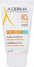 Parfumuri și produse cosmetice Fluid matifiant pentru față - A-Derma Protect AC Mattifying Fluid SPF 50
