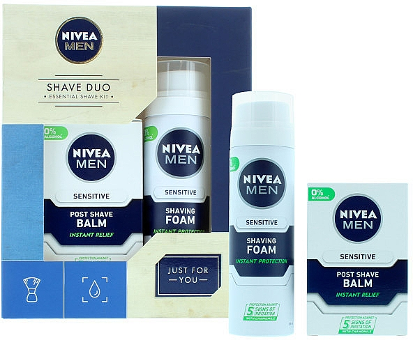 Set - Nivea for Men Shave Master Gift Set (sh/foam/200ml+post/shave/balm/100ml)