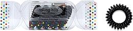 Parfumuri și produse cosmetice Elastic- brățară pentru păr, neagră - Rolling Hills 5 Traceless Hair Rings Cracker Black