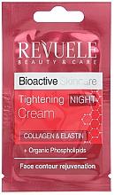 Parfumuri și produse cosmetice Ночной крем для лица - Revuele Bioactive Skin Care Collagen & Elastin Tightening Night Cream (пробник)