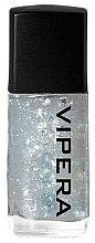 Parfumuri și produse cosmetice Fixator cu particule pentru unghii - Vipera Top Coat Metal Effect