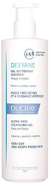 Gel hidratant de duș - Ducray Dexyane Gel Nettoyant Surgras — Imagine N1