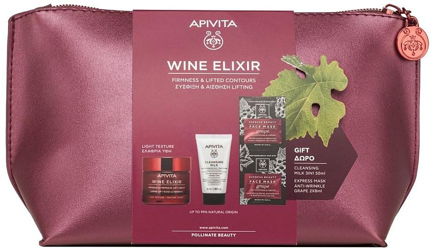 Set - Apivita Wine Elixir Cream Light Texture (cream/50ml + milk/50ml + mask/2x8ml) — Imagine N1