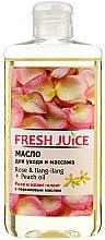 """Parfumuri și produse cosmetice Ulei pentru îngrijire și masaj """"Trandafir și ylang-ylang + Piersic"""" - Fresh Juice Energy Rose&Ilang-Ilang+Peach Oil"""