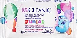 Parfumuri și produse cosmetice Șervețele umede pentru bebeluși, 15 buc - Cleanic Junior Wipes