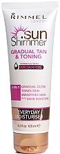 Parfumuri și produse cosmetice Autobronzant pentru față - Rimmel Sun Shimmer Gradual Tan and Toning Lotion