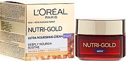 Parfumuri și produse cosmetice Cremă hidratantă de noapte - L'Oreal Paris Nutri Gold Night Cream