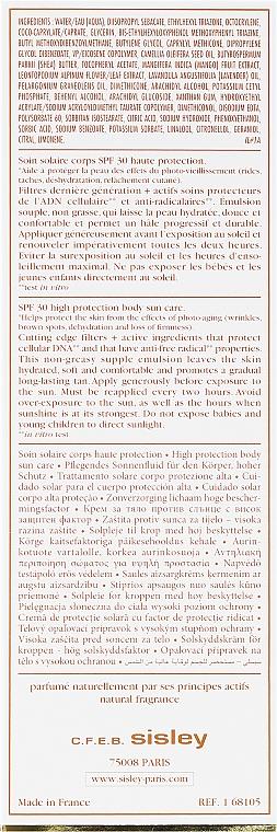 Cremă cu protecție solară pentru corp - Sisley Super Soin Solaire Silky Body Cream — Imagine N3