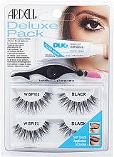 Parfumuri și produse cosmetice Set de gene false - Ardell Deluxe Pack Wispies with Applicator