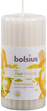 """Lumânare parfumată """"Mango și Bergamotă"""", 120/58 mm - Bolsius True Moods Candle"""