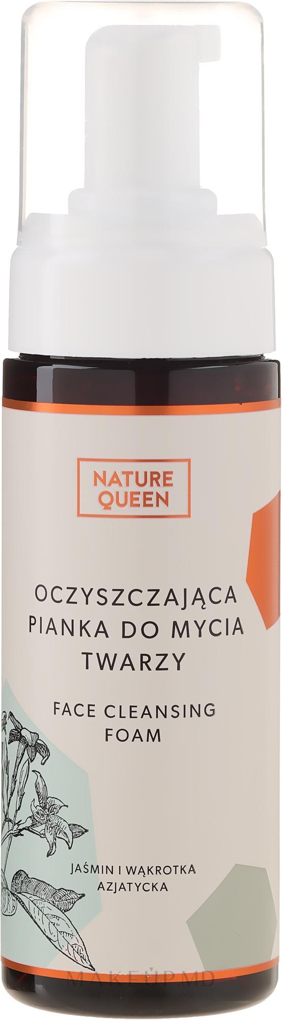 Spumă de curățare pentru față - Nature Queen — Imagine 175 ml