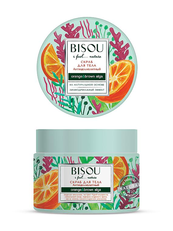 """Scrub pentru corp """"Anticelulitic"""" - Bisou I feel... Nature Anti-Cellulite Body Scrub Orange & Brown Algae"""