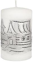 Parfumuri și produse cosmetice Lumânare decorativă, cilindru, mică, albă - Artman Decorative Candle Frozen