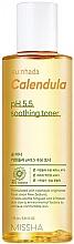 "Parfumuri și produse cosmetice Toner calmant ""Calendula"" pentru piele sensibilă - Missha Su:Nhada Calendula pH 5.5 Soothing Toner"