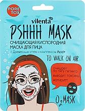 Parfumuri și produse cosmetice Mască revigorantă de oxigen, cu cărbune și complex Acid + - Vilenta Pshhh Mask