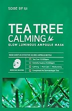 Parfumuri și produse cosmetice Mască din țesătură cu extract de arbore de ceai - Some By Mi Tea Tree Calming Glow Luminous Ampoule Mask