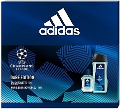 Parfumuri și produse cosmetice Adidas UEFA Champions League Dare Edition - Set (edt/50ml + sh/gel/250ml)