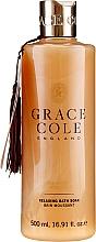 """Parfumuri și produse cosmetice Spumă de baie """"Oud și mosc de catifea"""" - Grace Cole Boutique Oud Accord & Velvet Musk Relaxing Bath Soak"""