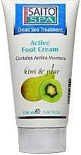 """Parfumuri și produse cosmetice Cremă pentru picioare """"Pară și Vanilie"""" - Saito Spa Active Foot Cream Kiwi Pear"""