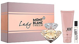 Parfumuri și produse cosmetice Montblanc Lady Emblem Elixir - Set (edp/75ml + edp/mini/7.5ml + b/l/100ml)