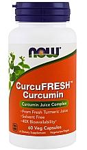 Parfumuri și produse cosmetice Supliment natural de curcumină, 60 capsule vegetale - Now Foods Curcu.Fresh Curcumin