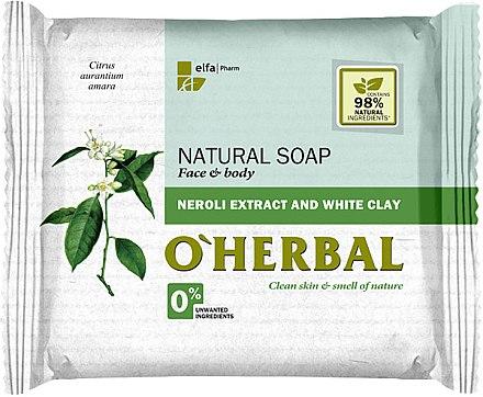 Săpun natural cu extract de neroli și argilă albă - O'Herbal Natural Soap — Imagine N1