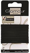 Parfumuri și produse cosmetice Elastice de păr, 414687, negre - Glamour