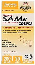 Parfumuri și produse cosmetice Adenosilmetionină sub formă de tablete enterice - Jarrow Formulas SAM-e 200 (S-Adenosyl-L-Methionine) 200 mg