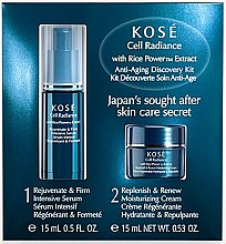 Parfumuri și produse cosmetice Set - KOSE Rice Power Extract Cell Radiance Anti-Aging Discovery Kit (cr/15ml+serum/15ml)