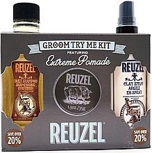 Parfumuri și produse cosmetice Set - Reuzel Extreme Hold Try Me Kit (h/pomade/35g + h/spray/100ml + shm/100ml)