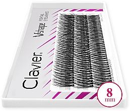 Parfumuri și produse cosmetice Gene false, 8 mm - Clavier V-Shape Eyelashes