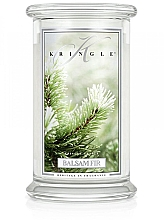 Parfumuri și produse cosmetice Lumânăre aromată în suport de sticlă - Kringle Candle Balsam Fir