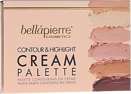 Parfumuri și produse cosmetice Paletă pentru contouring - Bellapierre Cosmetics Contour & Highlight Cream Pelette