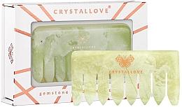 Parfumuri și produse cosmetice Pieptene din piatră jad pentru masajul scalpului - Crystallove