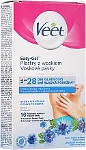 Parfumuri și produse cosmetice Benzi depilatoare cu aromă de albăstrea - Veet Easy-Gel