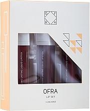 Parfumuri și produse cosmetice Set rujuri lichide mate - Ofra Espresso Lip Set (lipstick/3x8g)