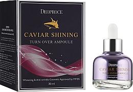 Parfumuri și produse cosmetice Ser facial cu extract de caviar - Deoproce Caviar Shining Turn Over Ampoule