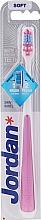 Духи, Парфюмерия, косметика Зубная щетка, мягкая, розовая - Jordan Shiny White Toothbrush Soft