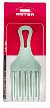 Parfumuri și produse cosmetice Pieptene pentru păr creț, turcoaz, 17 cm - Beter Beauty Care