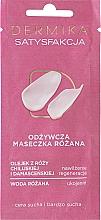 """Parfumuri și produse cosmetice Mască nutritivă pentru pielea feței uscată și foarte uscată """"Satisfacție"""" - Dermika Satisfaction Rose Nourishing Mask"""