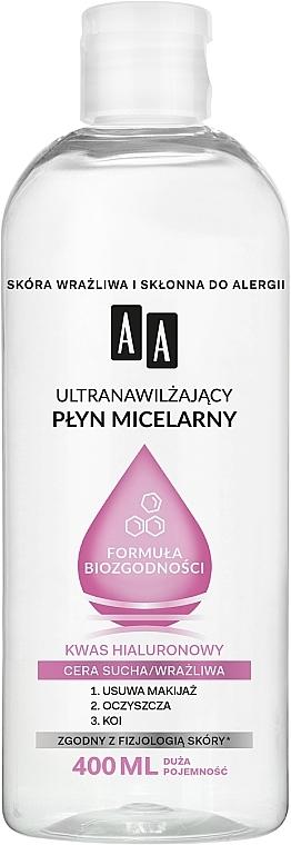 Apă micelară hidratantă pentru ten uscat și sensibil - AA Ultra Moisturizing Micellar Water