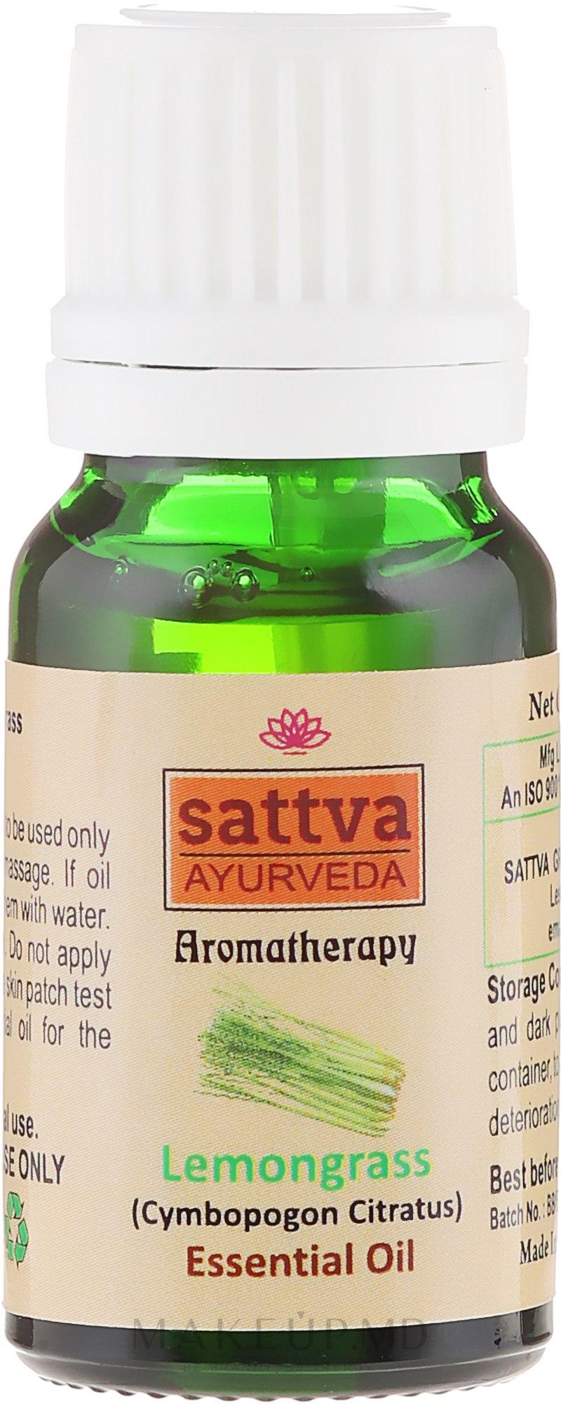 "Ulei esențial ""Lemongrass"" - Sattva Ayurveda Lemongrass Essential Oil — Imagine 10 ml"