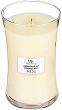 Parfumuri și produse cosmetice Lumânare aromatică - WoodWick Hourglass Candle Lemongrass & Lily
