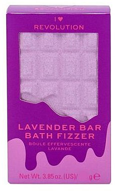 "Bombă de baie - I Heart Revolution Chocolate Bar Bath Fizzer ""Lavender"" — Imagine N1"