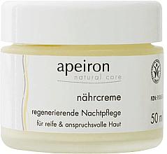 Parfumuri și produse cosmetice Cremă nutritivă și regenerantă, de noapte - Apeiron Nourishing Regenerating Night Cream