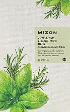Parfumuri și produse cosmetice Mască de țesut cu extract de plante - Mizon Joyful Time Essence Mask Herb