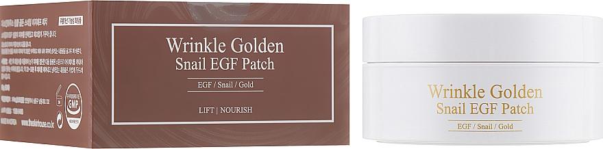 Patch-uri de hidrogel cu aur și mucină - The Skin House Wrinkle Golden Snail EGF Patch