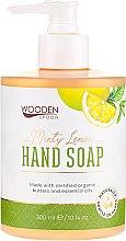 """Parfumuri și produse cosmetice Săpun lichid """"Lămâie și mentă"""" - Wooden Spoon Minty Lemon Hand Soap"""