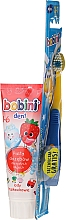 Parfumuri și produse cosmetice Set 1-6 ani - Bobini (toothbrush + toothpaste/75ml)